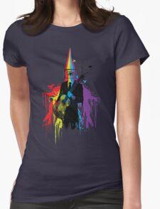 Surrealism man guitarist Womens Fitted T-Shirt