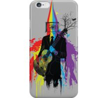 Surrealism man guitarist iPhone Case/Skin
