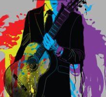 Surrealism man guitarist Sticker