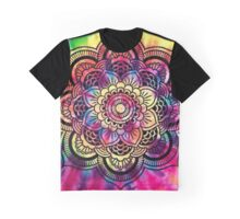Rainbow Tie Dye Mandala Graphic T-Shirt