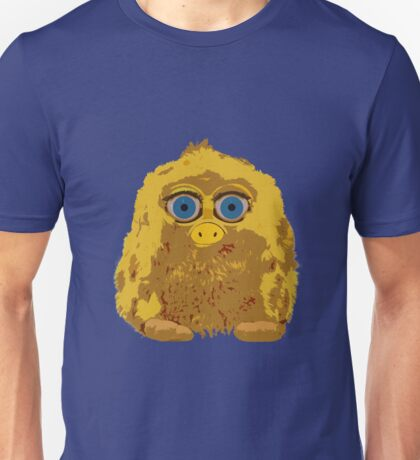 Cute Yellow Yeti Bigfoot With Big Blue Eyes Unisex T-Shirt