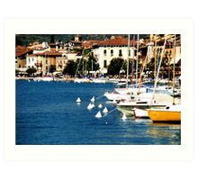 Salo Lake Garda Italy Port and Bay photo Art Print