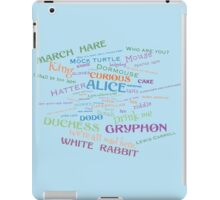 Alice in Wonderland Word Cloud iPad Case/Skin