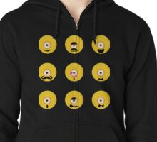 Funny emotions Zipped Hoodie
