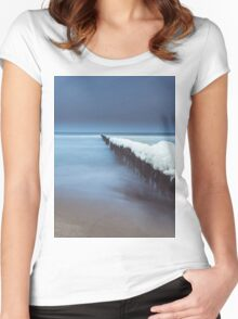Evening by the sea Women's Fitted Scoop T-Shirt