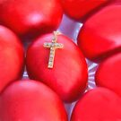 Greek Easter Eggs And Cross by daphsam