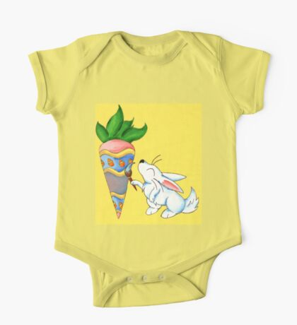 Easter Carrot One Piece - Short Sleeve