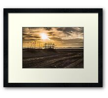 Tybee Sunset Framed Print