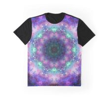 Trippy purple space mandala Graphic T-Shirt