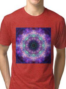 Trippy purple space mandala Tri-blend T-Shirt
