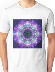Trippy purple space mandala Unisex T-Shirt