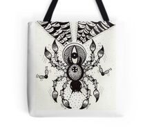 Black Spider Tote Bag