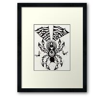 Black Spider Framed Print