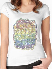 A Rainbow of Whales Women's Fitted Scoop T-Shirt