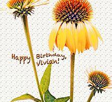 Triage of Petals ~ Happy Birthday, Vivian! by Susan Werby