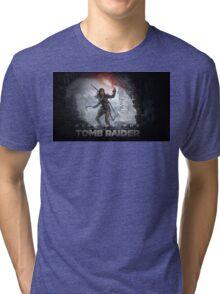 Rise of the Tomb Raider Design Tri-blend T-Shirt