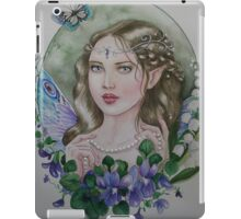 Violet lily of the valley fairy faerie iPad Case/Skin