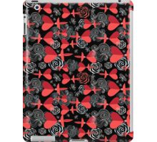 pattern in love birds with hearts iPad Case/Skin