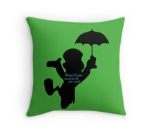 Always Let Your Conscience Be Your Guide Throw Pillow