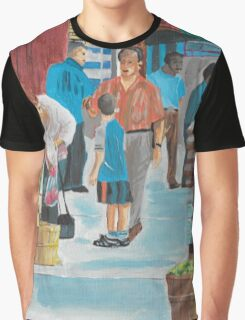 Jame St Fish Market Graphic T-Shirt