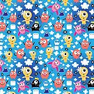 pattern funny monsters by Tanor