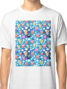 pattern funny monsters Classic T-Shirt