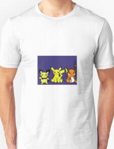 Pichu, Pikachu, Raichu T-Shirt