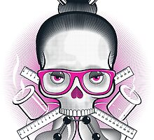 Nerdy skull by Julius Bernotas