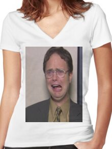 dwight schrute Women's Fitted V-Neck T-Shirt