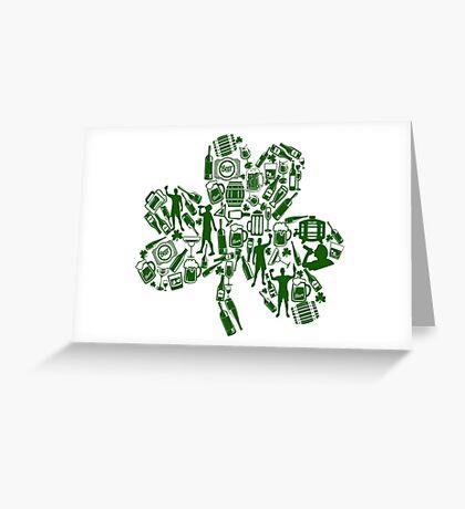 Drunken Shamrock St Patricks Day Greeting Card