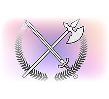 Pastel Sword And Arrow Photographic Print