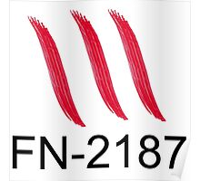 FN-2187 bloody hand print Poster
