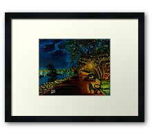 Hamilton bayfront at night Framed Print