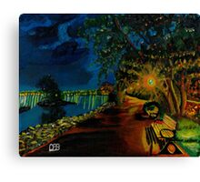 Hamilton bayfront at night Canvas Print