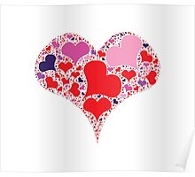 Heart made from heart Poster
