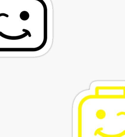 Lego faces Sticker