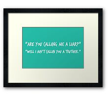 Truther in white Framed Print