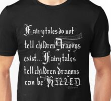What Fairy Tales Do (GK Chesterton - White Text) Unisex T-Shirt