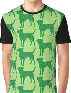 Labrador Retriever St. Patrick's Shamrock Pattern Graphic T-Shirt