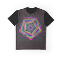 Beautiful Rainbow Hexagon NeoGeo Art Graphic T-Shirt