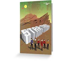 Retro Star Trek Minimalist Image Greeting Card