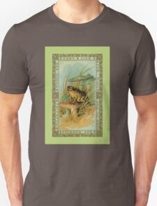 Friendship theme verse, Victorian frog (toad), toadstools  T-Shirt