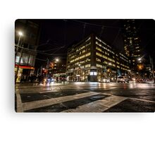 Sleepless streets Canvas Print