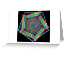 Fun Rainbow Hexagons NeoGeo Art Greeting Card