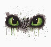Toothless' eyes in watercolour One Piece - Short Sleeve