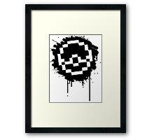 Pokeball Spray paint Framed Print