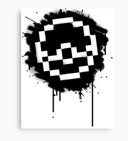Pokeball Spray paint Canvas Print