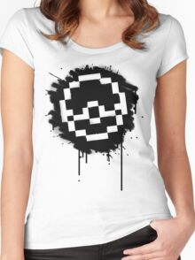Pokeball Spray paint Women's Fitted Scoop T-Shirt