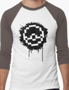 Pokeball Spray paint Men's Baseball ¾ T-Shirt
