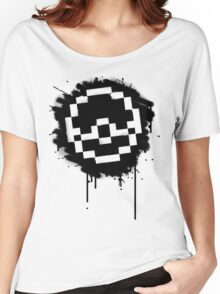 Pokeball Spray paint Women's Relaxed Fit T-Shirt